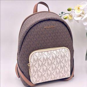 Michael Kors Erin Medium Backpack Vanilla Multi